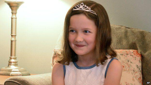 Emily Heaton wearing her tiara