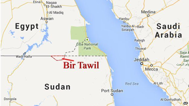 Bir Tawil, situated between Egypt and Sudan