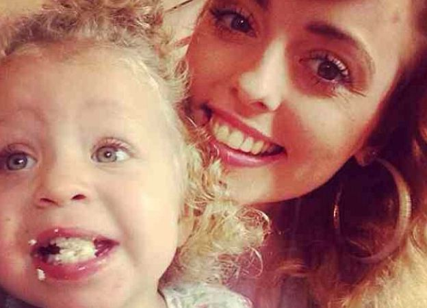 Hollie Gazzard (left) pictured with her niece Ruby