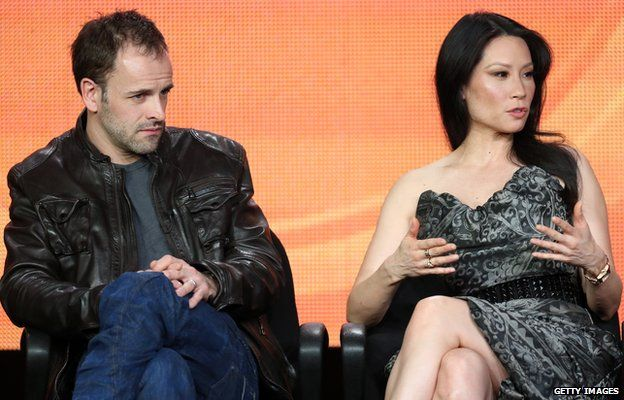 Jonny Lee Miller and Lucy Liu as Sherlock Holmes and Dr Watson