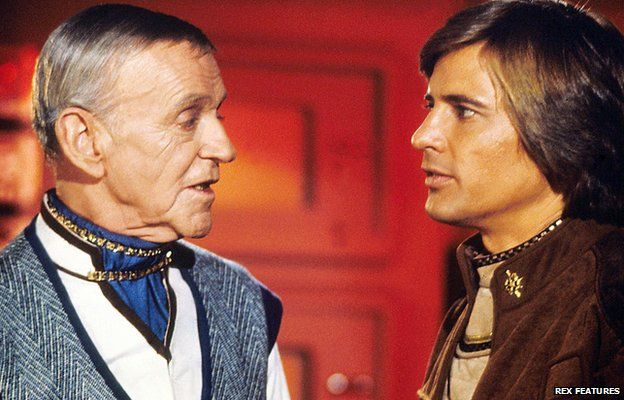 Fred Astaire and Dirk Benedict in the original Battlestar Galactica