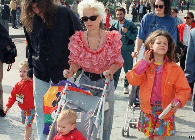 Fifi Geldof and family
