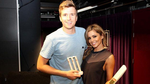 Greg James and Cheryl Cole