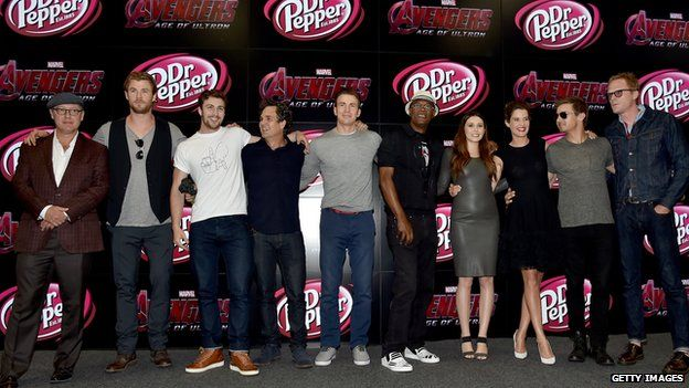 The cast of Avengers: Age of Ultron