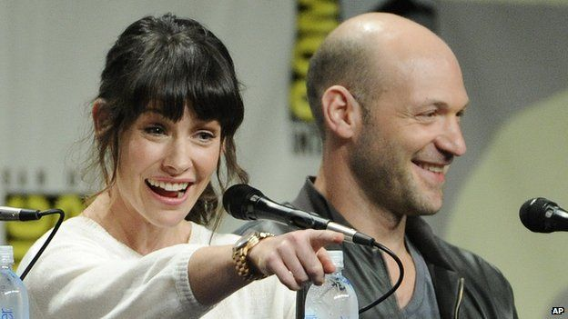 Evangeline Lilly and Corey Stoll