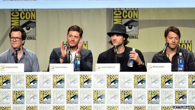 The cast and producers of Supernatural