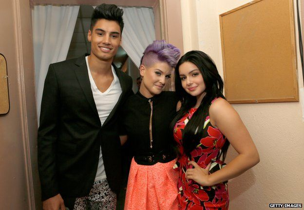 Siva Kaneswaran, Kelly Osbourne and Ariel Winter
