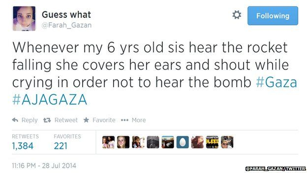 Farah Baker appeared to live tweet during a bomb attack by Israel.