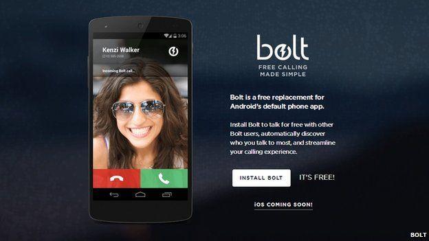 Bolt home screen