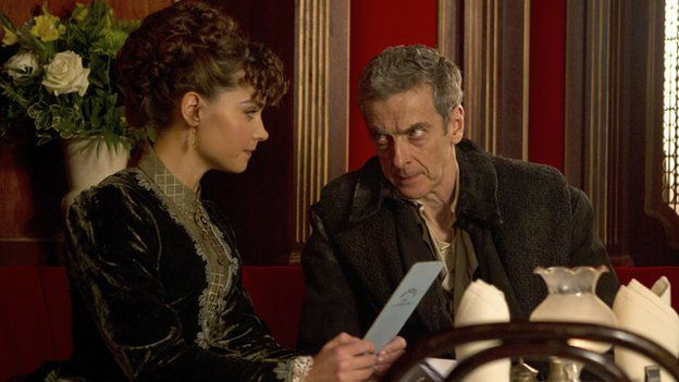 Peter Capaldi with on screen companion played by Jenna Coleman