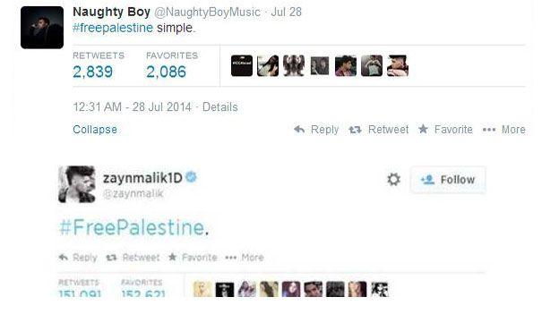 newsbeat article naughty defends freepalestine tweet with zayn mailk