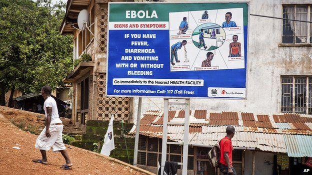 Ebola sign in Sierra Leone