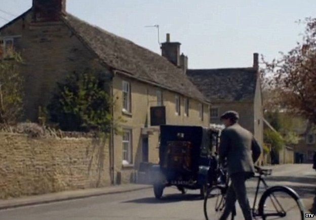 A scene from Downton Abbey showing a television aerial