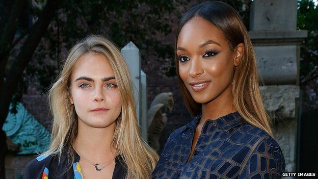 Cara Delevigne and Jourdan Dunn
