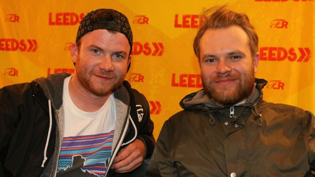 Rory Clewlow (left) and Rou Reynolds from Enter Shikari