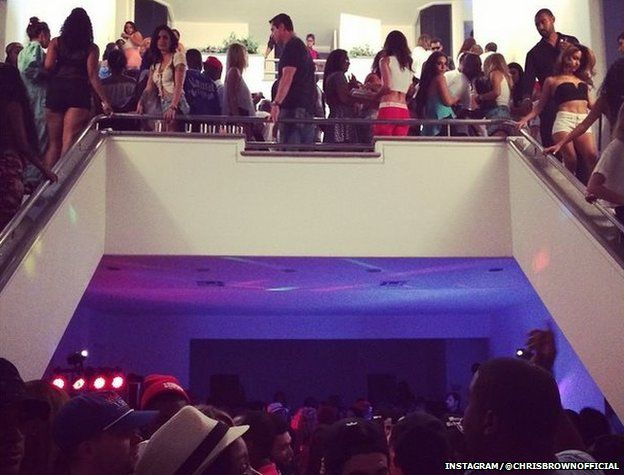 Chris Brown posted several photos and videos from a party on social media at the time of the shooting