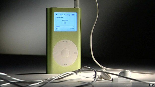 Photo of green iPod