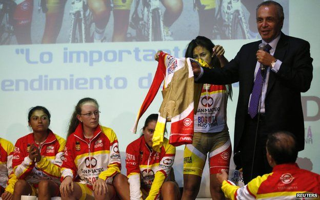 Cycling League of Bogota President Carlos Ferreira