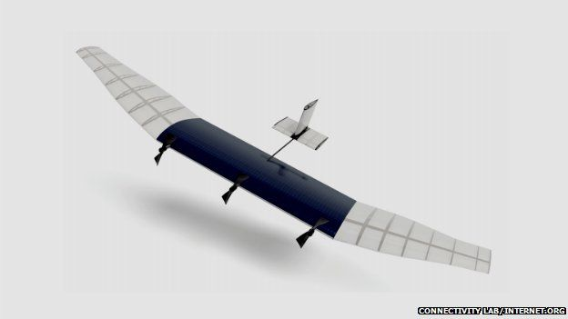 How one of Facebook's drones could look.