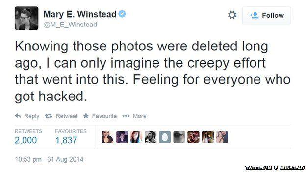 "Mary Elizabeth Winstead called the hackers ""creepy""."