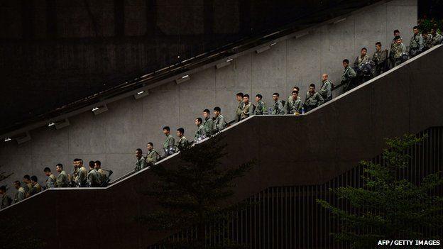 Police in Hong Kong