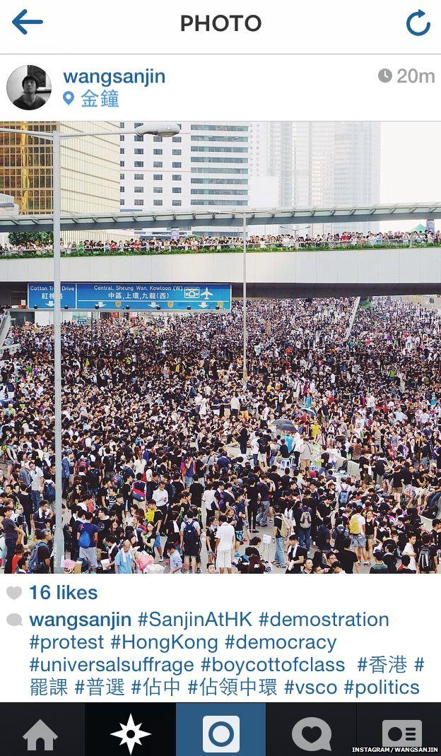 Photo of Hong Kong demonstration