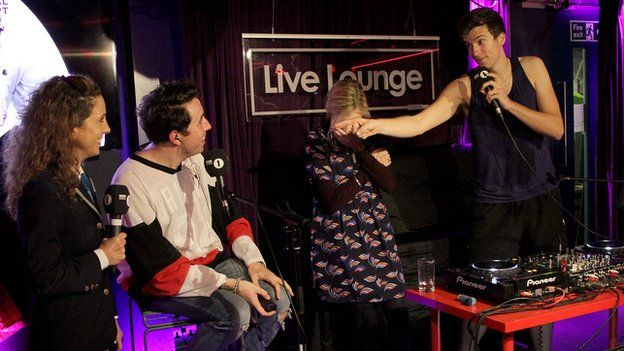 Nick Grimshaw, Fearne Cotton and Greg James