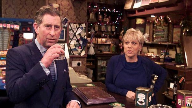 Prince Charles in the Rovers Return