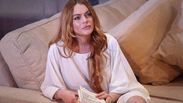 Lindsay Lohan on the set of Speed-the-Plow