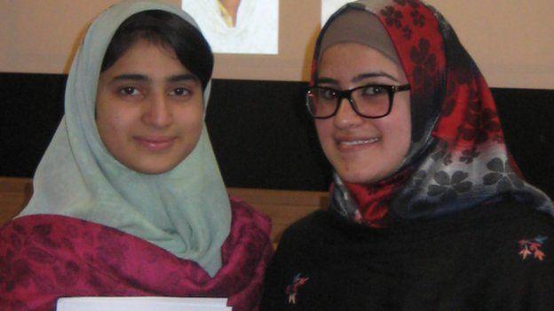 Shazia Ramzan (left) and Kainat Riaz