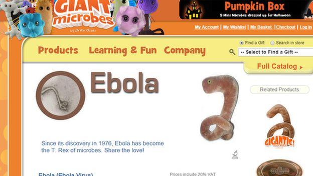 The Ebola cuddly toy