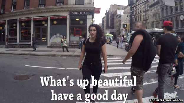 Comment in street: What's up beautiful have a nice day