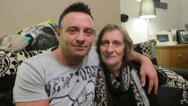 Jamie with his mum