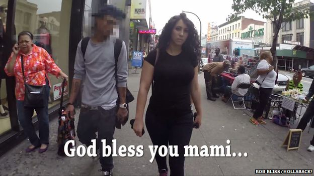 Comment in street: God bless you mami