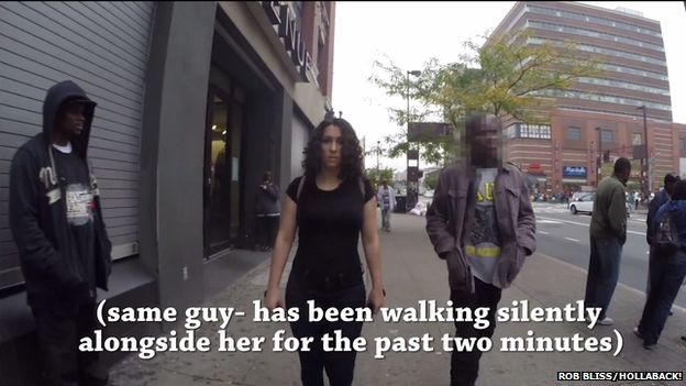 Girl being followed down street by stranger for 2 minutes