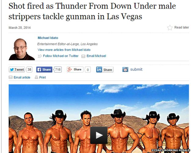 Thunder from down under strippers