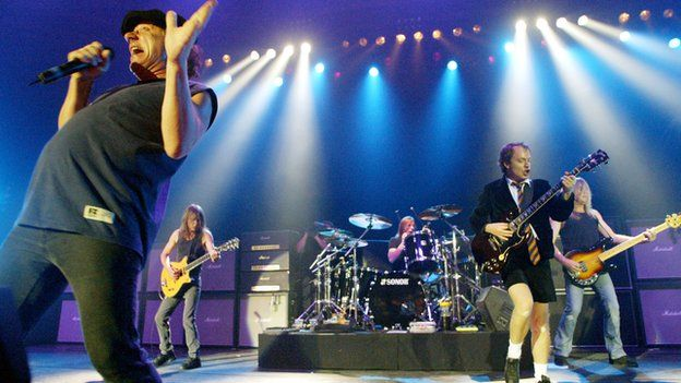 AC/DC performing