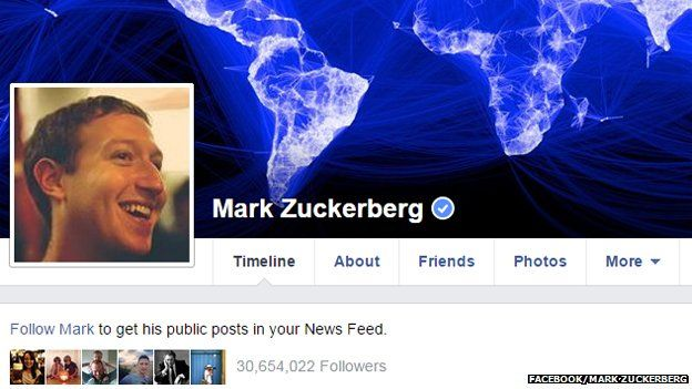 Mark Zuckerberg's Facebook page
