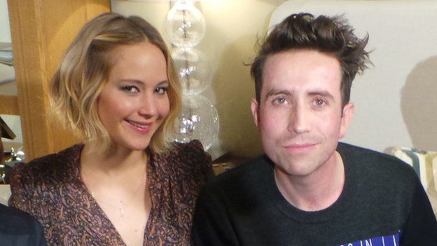 Jennifer Lawrence and Nick Grimshaw