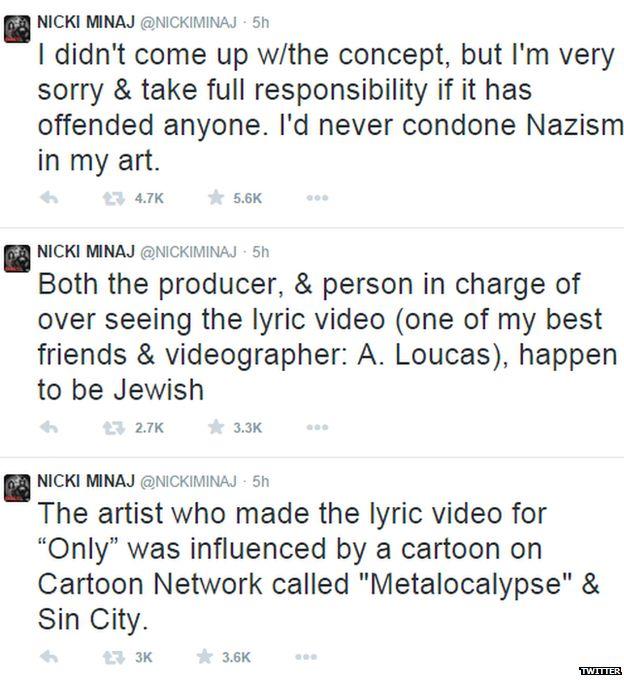 Nicky Minaj comments