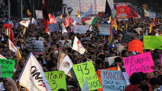 Protestors in Mexico