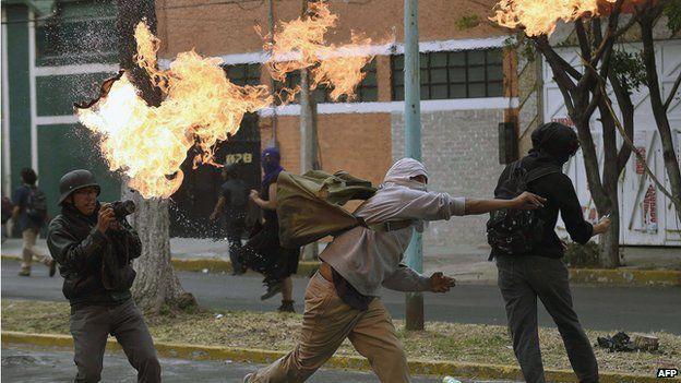 Violent protestors