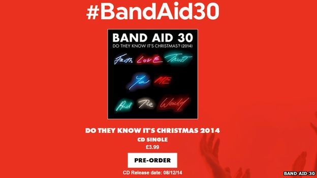Band Aid website