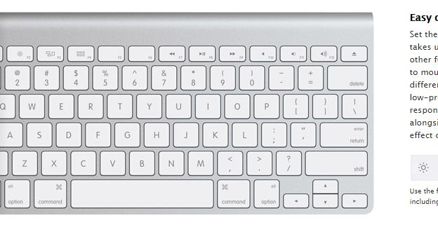 Another wireless keyboard model on the website has a # clearly marked