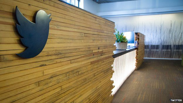 reception at twitter office