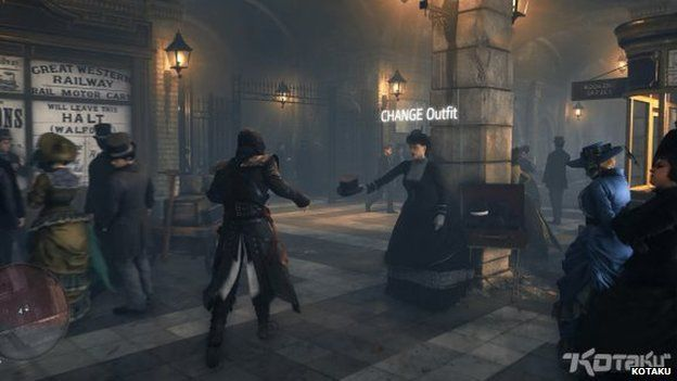 A scene from the game in a dark alley