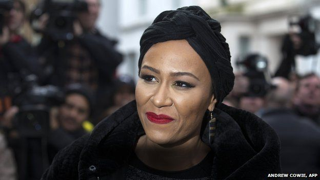Emeli Sande arriving at the recording of Band Aid 30 in November 2014