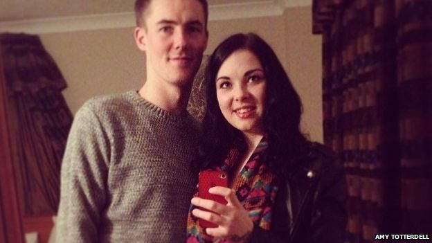 Amy Totterdell and Shaun Brotherston had been together for three years