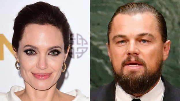 Angelina Jolie and Leonardo DiCaprio