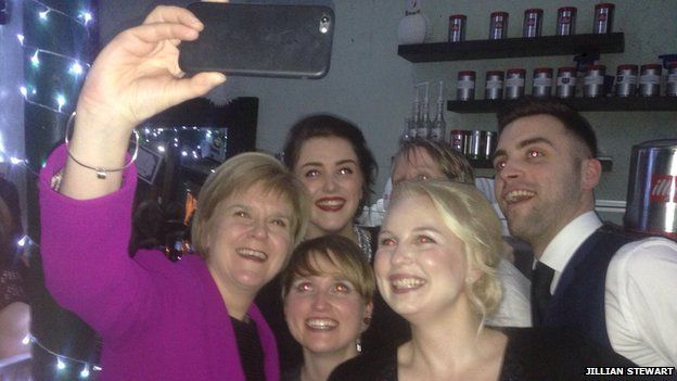 Nicola Sturgeon took a selfie with Susan and Gerrie's children